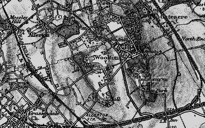 Old map of Allerton in 1896