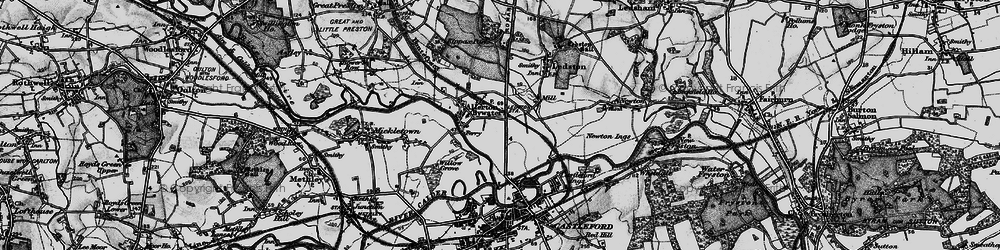 Old map of Allerton Bywater in 1896