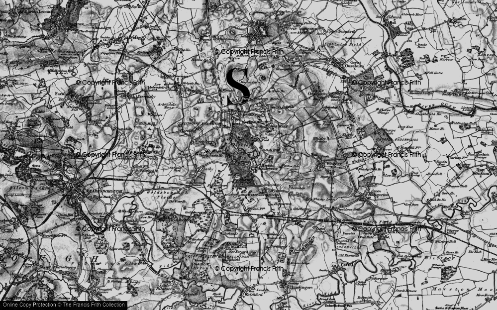 Old Map of Allerton Mauleverer, 1898 in 1898