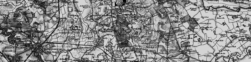 Old map of Allerton Grange in 1898