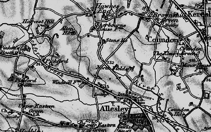 Old map of Allesley in 1899