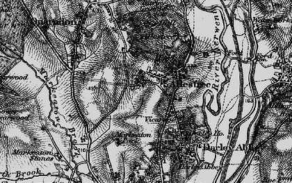 Old map of Allestree Park in 1895