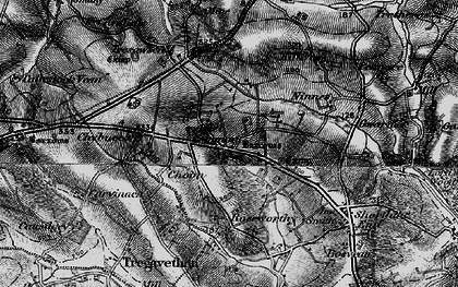 Old map of Allet in 1895