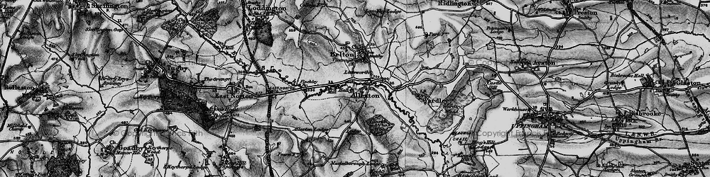 Old map of Allexton in 1899