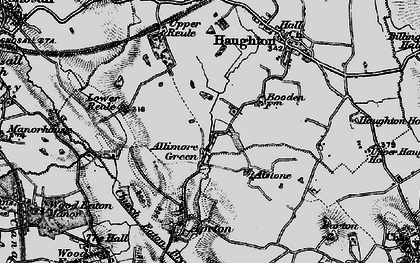 Old map of Allimore Green in 1897