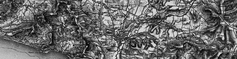 Old map of Allington in 1897
