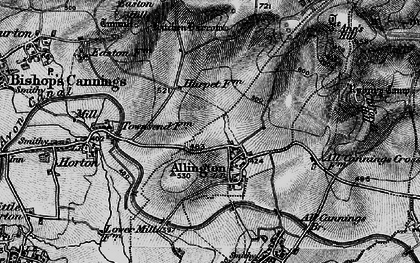 Old map of Allington in 1898