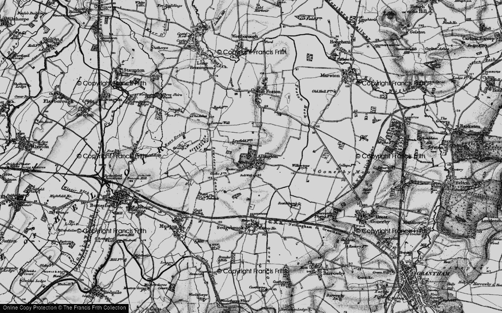 Old Map of Allington, 1899 in 1899