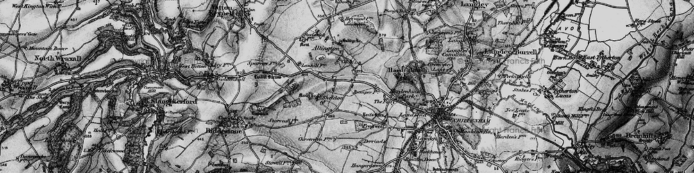Old map of Allington Bar in 1898