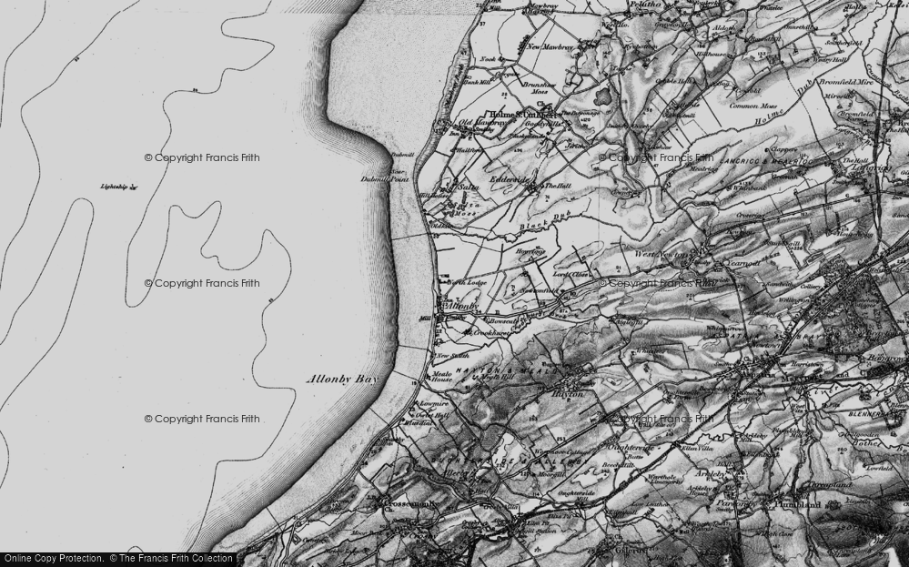 Old Map of Allonby, 1897 in 1897