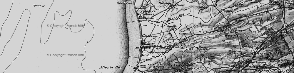 Old map of Allonby in 1897