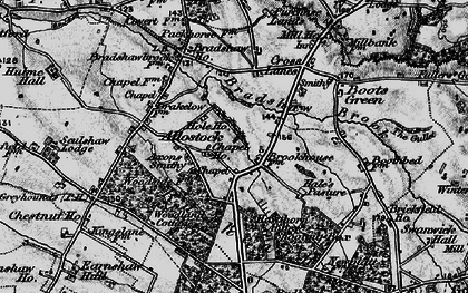 Old map of Allostock in 1896