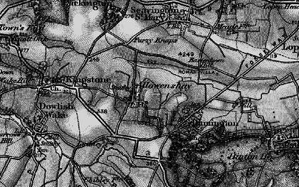 Old map of Allowenshay in 1898