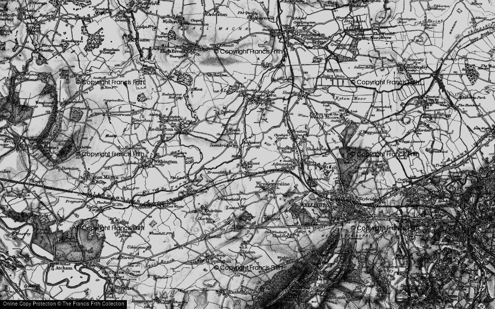 Old Map of Allscott, 1899 in 1899