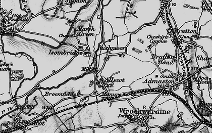 Old map of Allscott in 1899