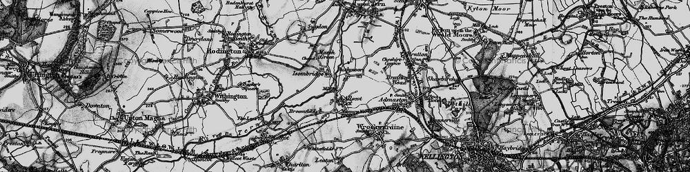 Old map of Allscott in 1899