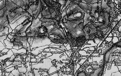 Old map of Allt-y-frân Fawr in 1897