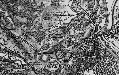 Old map of Allt-yr-yn in 1897