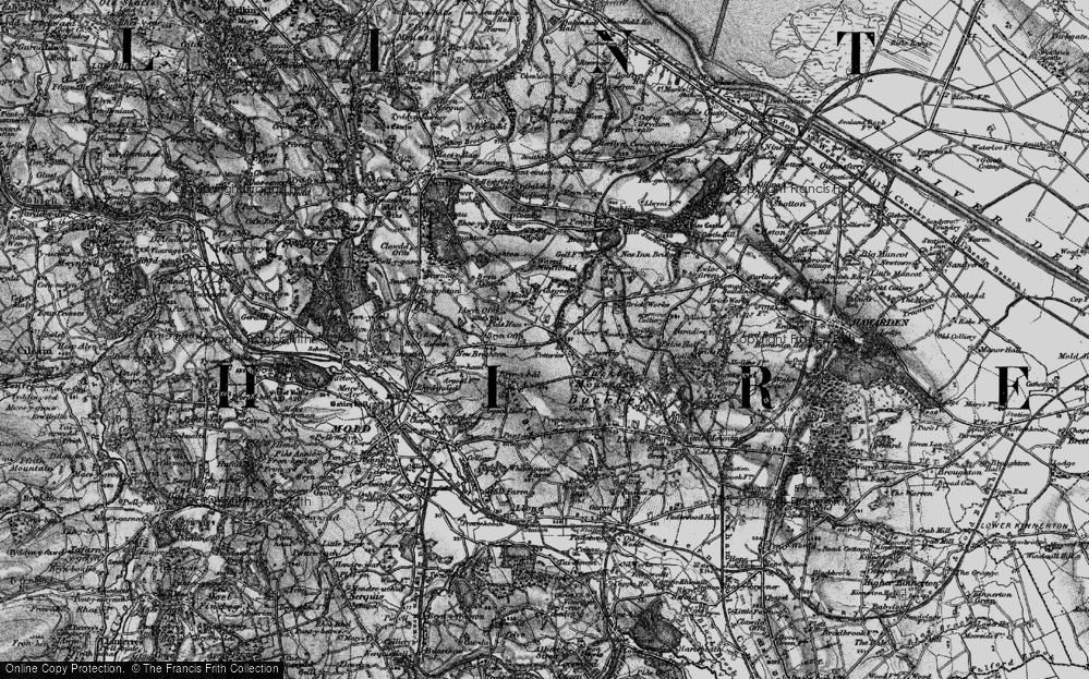Old Map of Alltami, 1897 in 1897