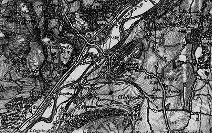 Old map of Alltwen in 1898