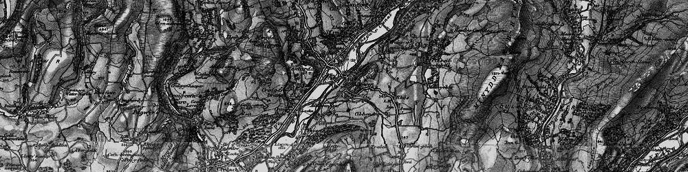 Old map of Alltwen in 1898
