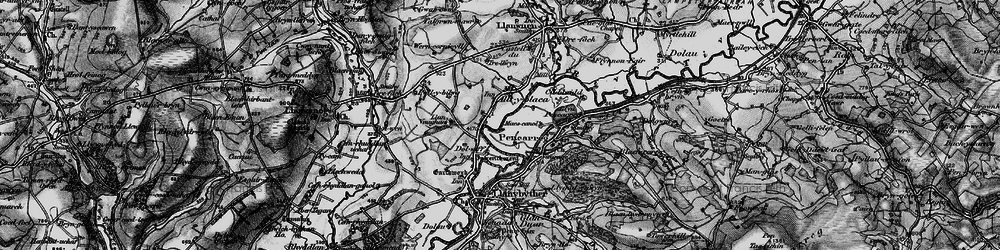 Old map of Alltyblaca in 1898