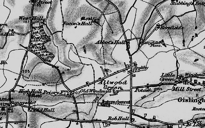 Old map of Allwood Green in 1898