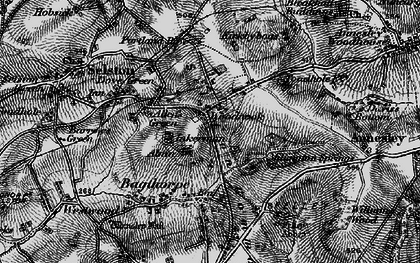 Old map of Alma in 1895