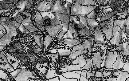 Old map of Almeley Wootton in 1898