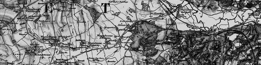 Old map of Almer in 1895
