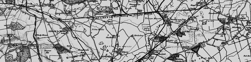 Old map of Almholme in 1895