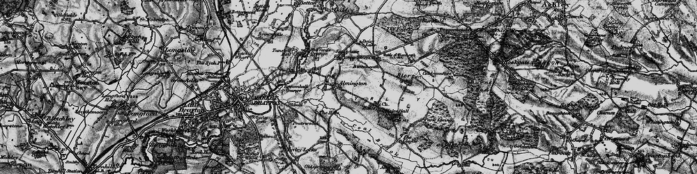 Old map of Almington in 1897