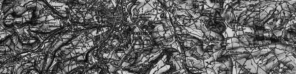 Old map of Almondbury in 1896