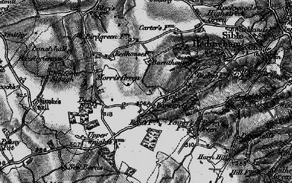 Old map of Almshouse Green in 1895