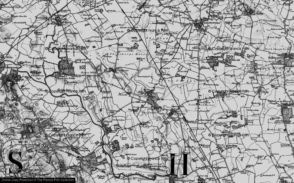 Old Map of Alne, 1898 in 1898