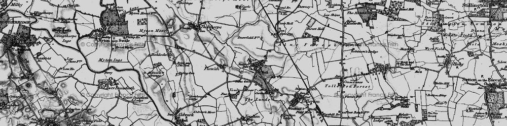 Old map of Alne in 1898