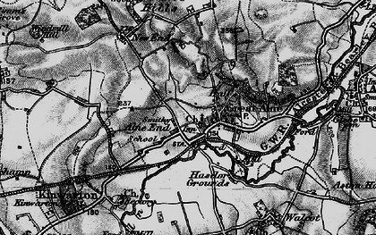 Old map of Alne End in 1898
