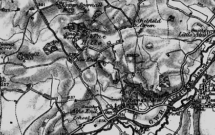 Old map of Alne Hills in 1898