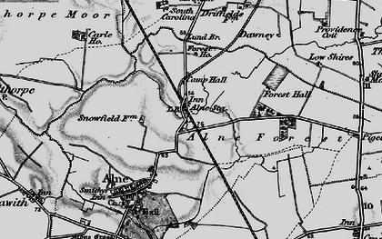 Old map of Alne Station in 1898