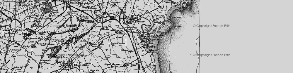 Old map of Alnmouth in 1897