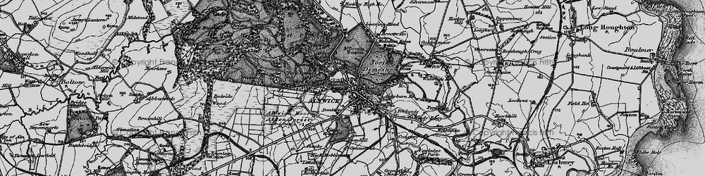 Old map of Abbeylands in 1897