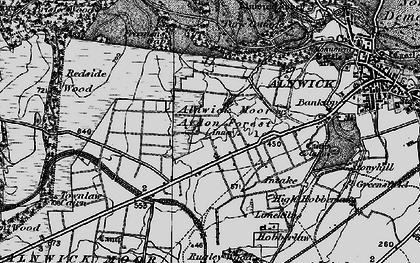 Old map of Alnwick Moor in 1897