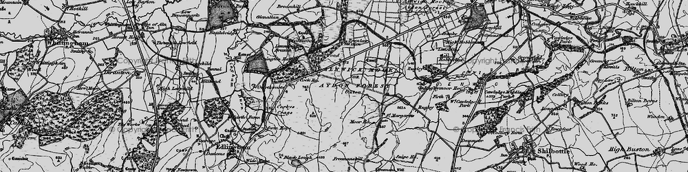 Old map of Alnwick Moor or Aydon Forest (Outer) in 1897