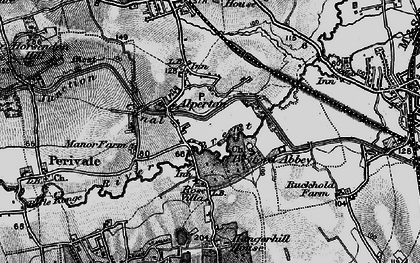 Old map of Alperton in 1896