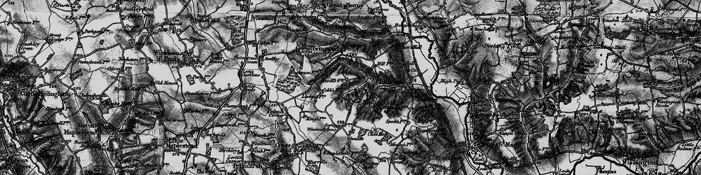 Old map of Alphamstone in 1895