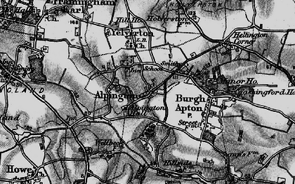 Old map of Alpington in 1898