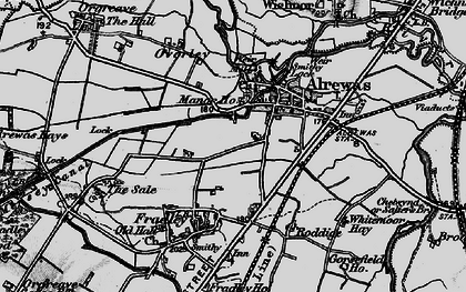 Old map of Alrewas in 1898