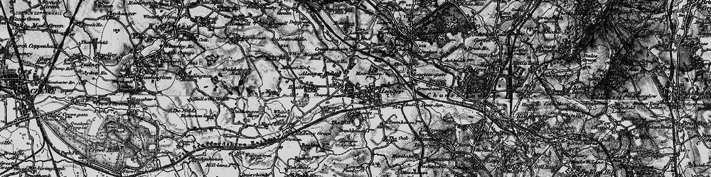 Old map of Alsager in 1897