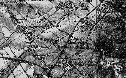 Old map of Alscot in 1895
