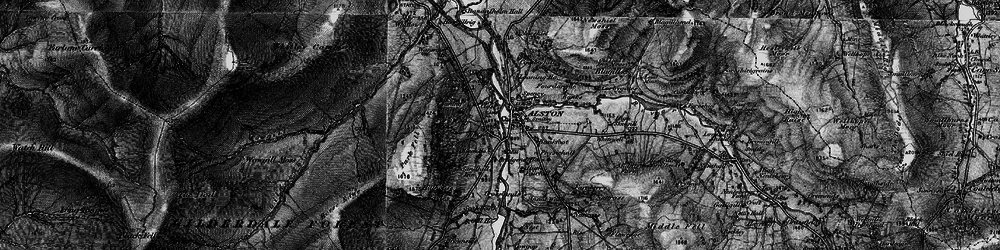 Old map of Alston in 1897